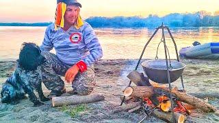ДОЖДАЛИСЬ Рыбалка с Ночёвкой Два дня на ОСТРОВЕ Уха на костре закидушки