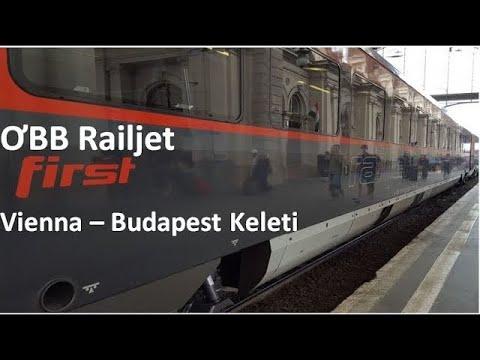 OBB Railjet FIRST CLASS Vienna-Budapest Keleti