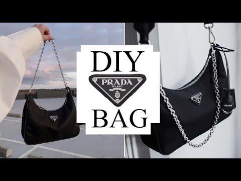 DIY bag inspired by Prada mini bag | Tijana Arsenijevic - YouTube