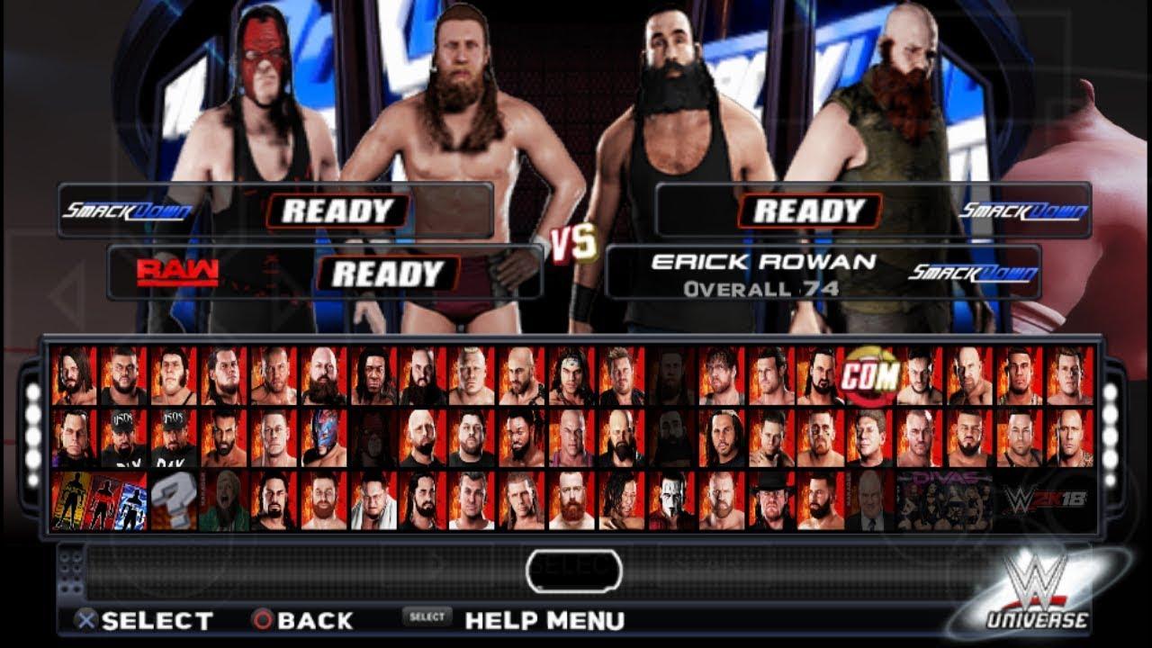 WWE 2K18 PPSSPP BY GAMERNAFZ UPDATED FULL VERSION 177,V7SNY