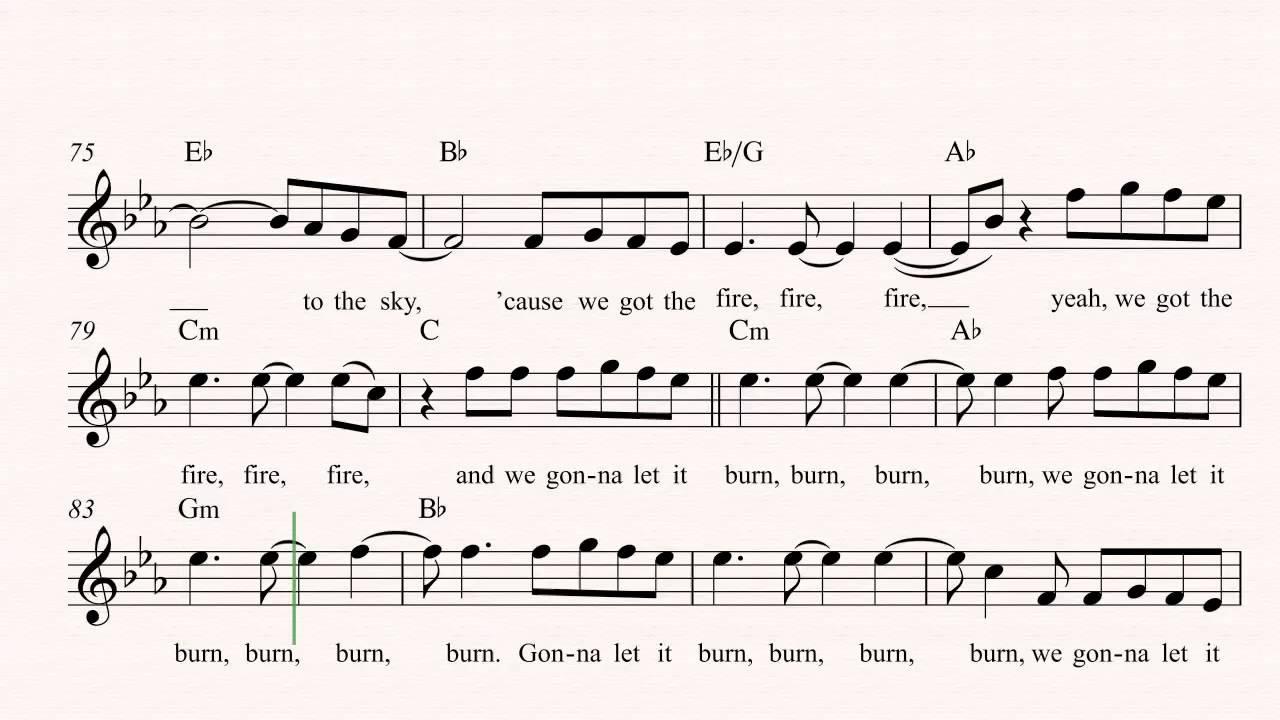 Tenor sax burn ellie goulding sheet music chords vocals tenor sax burn ellie goulding sheet music chords vocals hexwebz Images