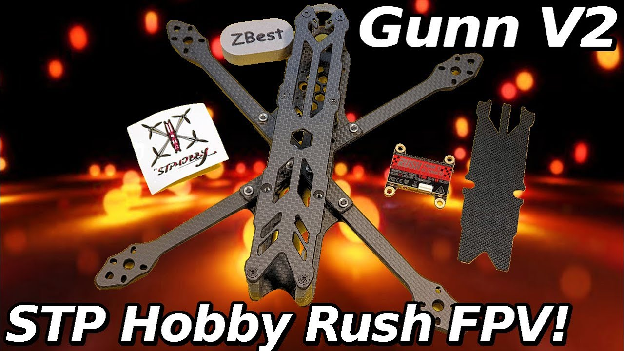✅ Рама для FPV Квадрокоптера STP HOBBY GUNN V2 Analog + DJI FPV и Новинки от RUSHFPV ! 🔥