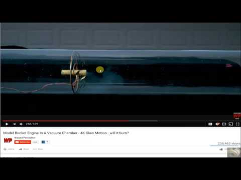 Rocket In A Vacuum Chamber (by Warped Perception) Debunked | Flat Earth.