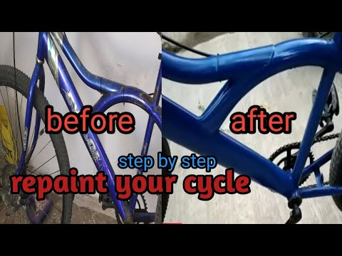Repainting a full cycle with spray can  step by step 