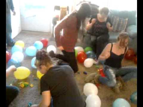 Great Aariels Baby Shower Balloon Game   YouTube