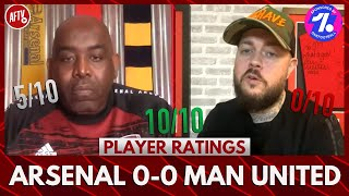 Arsenal 0-0 Man United | Pepe Has Awoken! (DT Player Ratings)