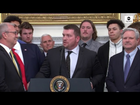 Pres. Trump hosts NCAA champion North Dakota State Bison at the White House | ABC News