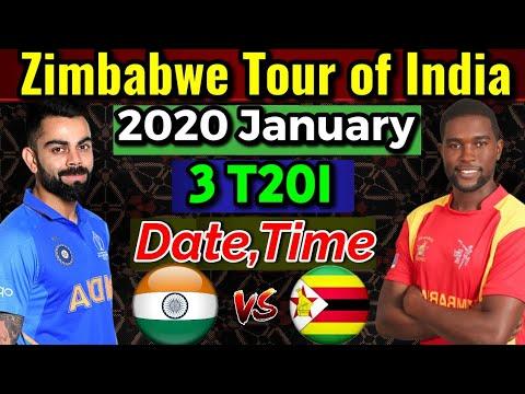 Zimbabwe Tour Of India 2020 Date