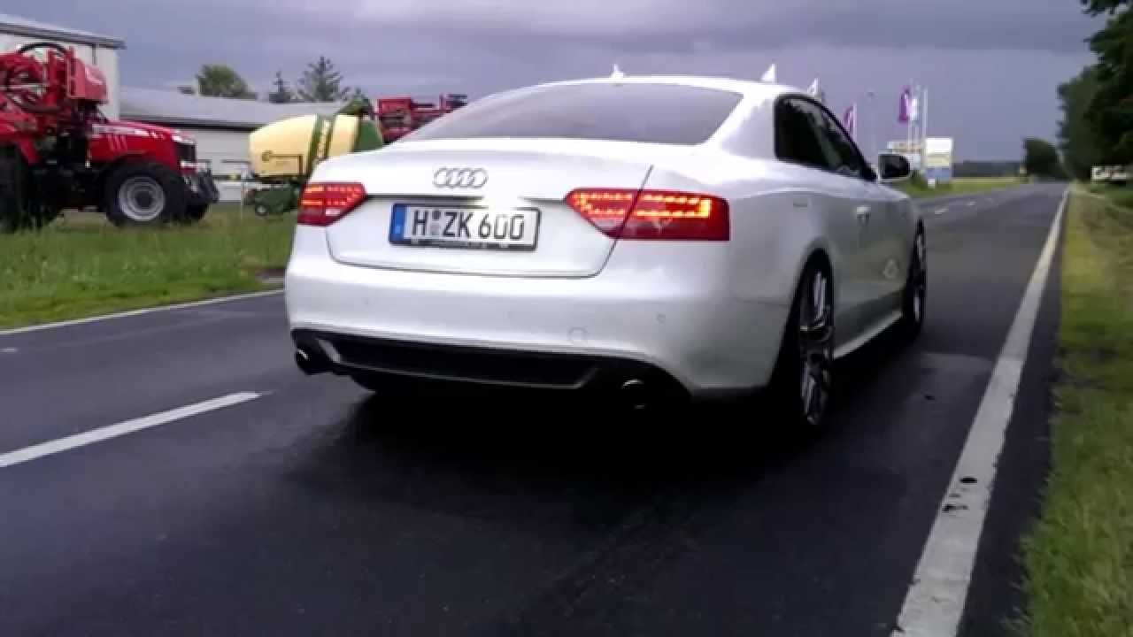 audi a5 3 0 tdi mit 76mm abgasanlage und dpf broo performance youtube. Black Bedroom Furniture Sets. Home Design Ideas