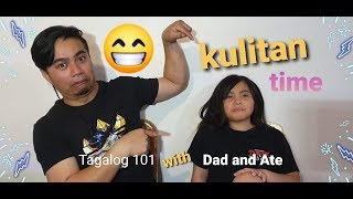 Ate Airelle speaking tagalog words #kulitanTime with kiddo
