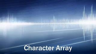 #18 Character Array