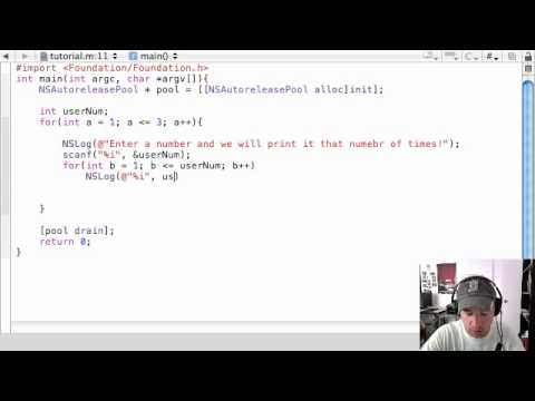 Objective C Programming Tutorial - 14 - Nested for Loops