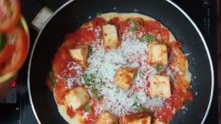 Perfect Paneer Pizza without oven😋Cottage Cheese Pizza On The Stove Top, Pizza Base & Pizza Sauce