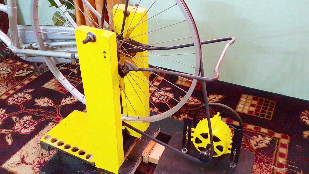 Free Energy Generator Homemade 220v Attached To Bicyclediy Bicycle Systems Pedal Power Generators Electricity