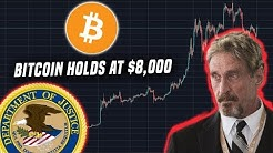 "Bitcoin remains strong near $8,000 | McAfee states he will ""bury"" the US Government"