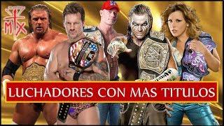 TOP 10 - LUCHADORES DE WWE CON MAS TITULOS- LOQUENDO
