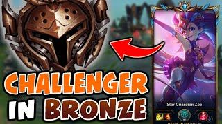 What happens when a TOP 100 CHALLENGER visits BRONZE | Challenger Zoe vs Bronze Elo