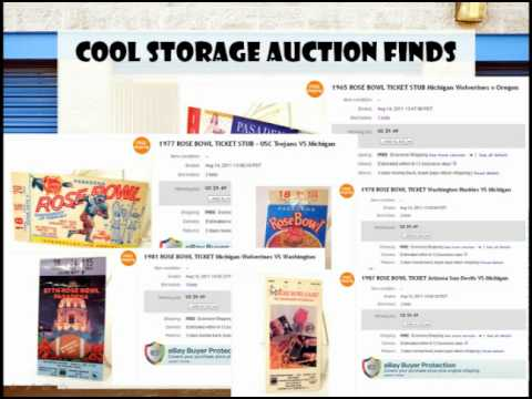 Storage Wars Auctions - Cool Storage Auction Finds - Vintage Rose Bowl Football Game Tickets