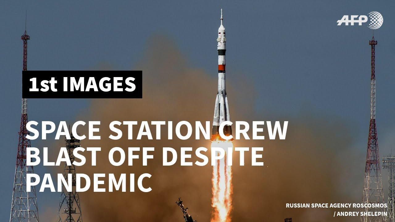 Space station crew blast off despite virus-hit build up | AFP - AFP News Agency