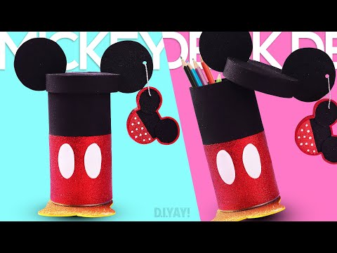 Mickey Mouse Pencil Holder | Mickey Desk Decor | Mickey Mouse Pen Stand Easy