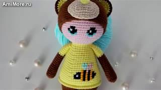 Амигуруми: схема Пупса в костюмчике мишки. Игрушки вязаные крючком - Free crochet patterns.