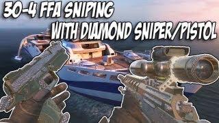 black ops 2 sniping in ffa with non lethal killstreaks diamond ballista and diamond b23r gameplay