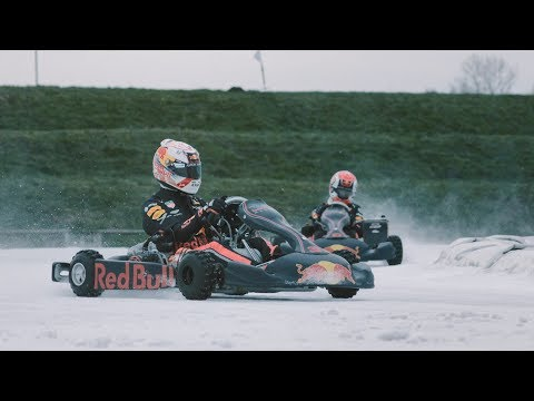 Max Verstappen & Pierre Gasly - Ice Karting - Bulls on Ice, Flevoland The Netherlands