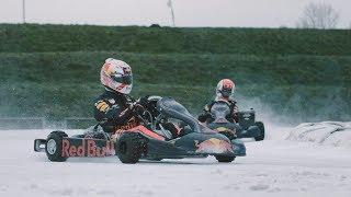 Max Verstappen & Pierre Gasly - Ice Karting - Bulls on Ice, Flevoland The Netherlands