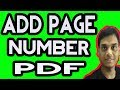 How To Add Page Numbers In PDF | Hindi Helping abhi