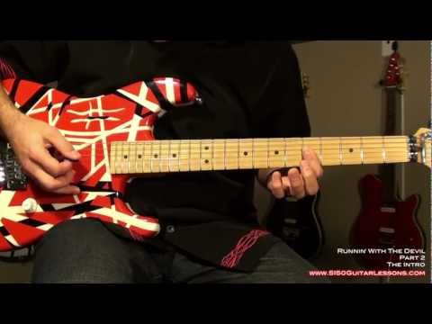 How to play 'Runnin' With The Devil' - Van Halen - 5150GuitarLessons.com (sample)