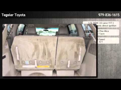 2008 Toyota Sienna 7 Pass Van Xle Ltd Fwd Brenham Youtube