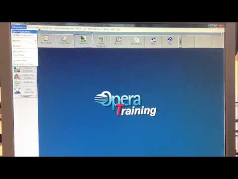 Opera start and menus