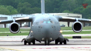 The Most Powerful Takeoff And Landing Boeing C-17 Globemaster