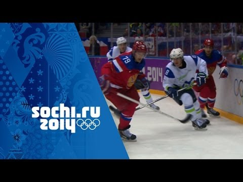 Ice Hockey - Men's Group A - Russia V Slovenia | Sochi 2014 Winter Olympics