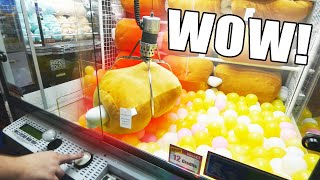 Finally WON From This GIANT Claw Machine!!! OMG! || Arcade Games