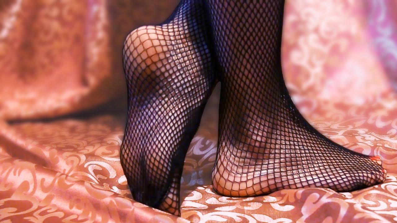 Foot fetish fishnets