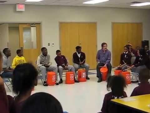 Bucket drumming with Widener Partnership Charter School 2014 04 28