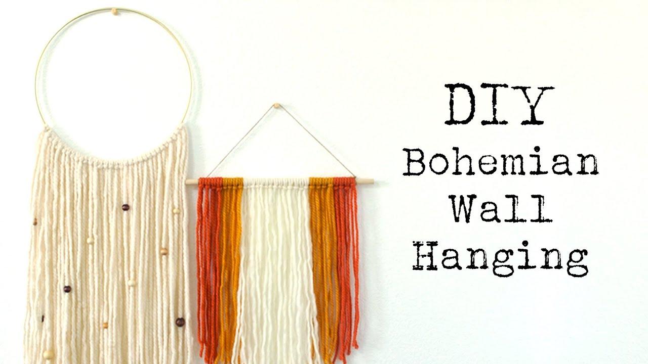 Diy Boho Wall Hanging Youtube