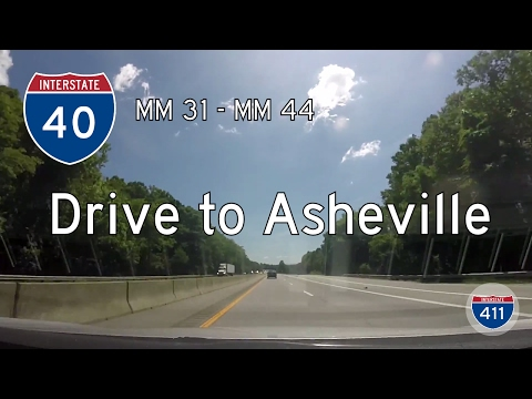 Interstate 40 - Mile 31 - Mile 40 - North Carolina | Drive America's Highways 🚙