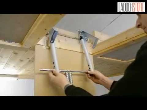 Installing The Youngman Telescopic Loft Ladder Youtube