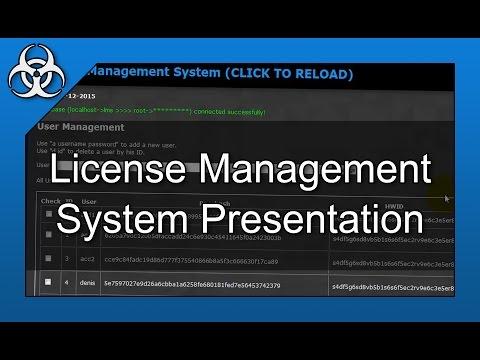 User Lincense Management System Software In PHP, C# & MySQL Presentation