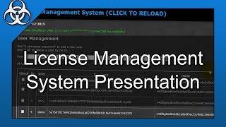 User Lincense Management System Software in PHP, C# & MySQL Presentation Mp3