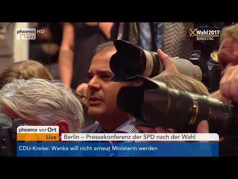 Bundestagswahl 2017: Pressekonferenz mit Martin Schulz vom 25.09.2017
