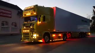 2018 Scania R730 V8 Power Amazing (SOUND)-(Acceleration) (Holland Style) Yellow Edition