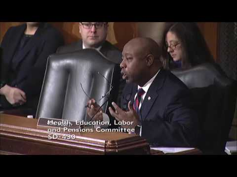 Senator Scott Delivers Remarks on DeVos in HELP Committee