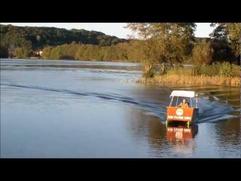Air Floß One / Autodach-Katamaran aus Styrodur / Elektro-Boot ...