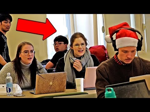 Blasting INAPPROPRIATE Christmas Songs In The Library!