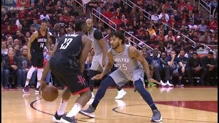 Derrick Rose Gets Schooled By James Harden Immediately!