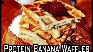 Protein Banana Waffles