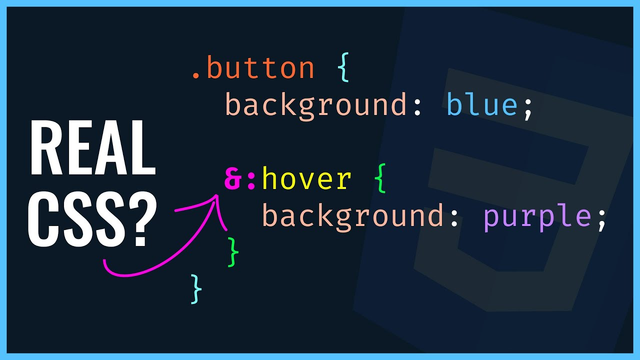 CSS Nesting Is Coming Soon! 🤯 How To Nest Selector Styles TODAY!! (2021)